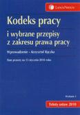 Rączka Krzysztof - Kodeks pracy i wybrane przepisy z zakresu prawa pracy