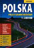 Polska Atlas Samochodowy 1:200 000 + laminowana mapa samochodowa Polski 1:1 400 000 – mapa kieszonkowa