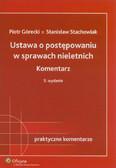 Górecki Piotr, Stachowiak Stanisław - Ustawa o postępowaniu w sprawach nieletnich Komentarz