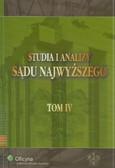 Studia i analizy Sądu Najwyższego tom 4