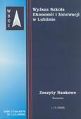 Praca zbiororwa - Zeszyty Naukowe WSEI nr 1/2009. Ekonomia