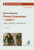 Stepaniuk Mariusz - Prawo finansowe część 1 Testy aplikacyjne 11