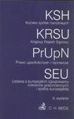 Kodeks spółek handlowych Krajowy Rejestr Sądowy Prawo upadłościowe i naprawcze. Ustawa o europejskim zgrupowaniu interesów gospodarczych i spółce europejskiej