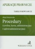 Świczewska Alicja - Procedury Tabele porównawcze. cywilna, karna, administracyjna i sądowoadministracyjna