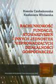 Czubakowska Ksenia, Winiarska Kazimiera - Rachunkowość fundacji stowarzyszeń i innych jednostek nieprowadzacych działalności gospodarczej