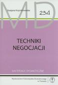 Krzyminiewska Grażyna - Techniki negocjacji. Materiały dydaktyczne