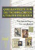 Quellentexte zur Deutschsprachigen Literatur und Kultur Band 1 Von den Anfangen bis zum Barock