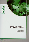 Pązik Adam, Zieliński Łukasz - Prawo rolne. Testy dla studentów