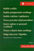 Kodeks cywilny Kodeks postępowania cywilnego Kodeks rodzinny i opiekuńczy Prawo prywatne międzynarodowe Koszty sądowe w sprawach cywilnych Prawo o aktach stanu cywilnego Księgi wieczyste i hipoteka