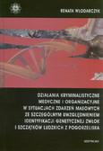 Włodarczyk Renata - Działania kryminalistyczne, medyczne i organizacyjne w sytuacjach zdarzeń masowych ze szczególnym uwzględnieniem identyfikacji genetycznej zwłok i szczątków ludzkich z pogorzeliska