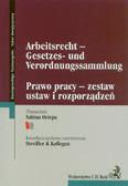 Arbeitsrecht Gesetzes und Verordnungssammlung  Prawo pracy zestaw ustaw i rozporządzeń