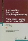 Ociepa Sabina - Arbeitsrecht –Gesetzes- und Verordnungssammlung Prawo pracy – zestaw ustaw i rozporządzeń
