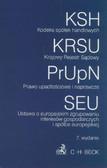 Kodeks spółek handlowych, Krajowy Rejestr Sądowy, Prawo upadłościowe i naprawcze, Ustawa o europejsk