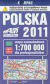 Polska 2011 Mapa samochodowa dla profesjonalistów 1:700 000