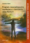 Bębas Sylwester - Program resocjalizacyjny wynikający z nauczania Jana Pawła II