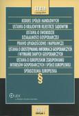 Kodeks spółek handlowych Ustawa o Krajowym Rejestrze Sądowym. Prawo handlowe Zbiór przepisów