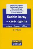 Gałązka Małgorzata, Hałas Radosław G., Hypś Sławomir - Kodeks karny - część ogólna