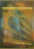 --- - Horyzonty psychologii rok 2011 tom I numer 1