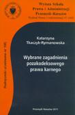 Tkaczyk-Rymanowska Katarzyna - Wybrane zagadnienia pozakodeksowego prawa karnego