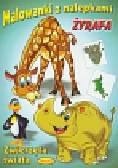 Malowanki z nalepkami Zwierzęta świata Żyrafa