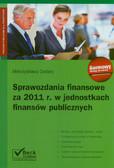 Cellary Mieczysława - Sprawozdania finansowe za 2011 r w jednostkach finansów publicznych