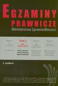 Jaworski Stefan, Ablewicz Joanna, Szoplińska Agata - Egzaminy prawnicze Ministersrwa Sprawiedliwości t.2