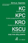 Kodeks cywilny Kodeks postępowania cywilnego Kodeks rodzinny i opiekuńczy Koszty sądowe cywilne. oraz inne akty prawne