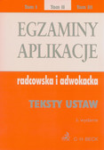 Egzaminy aplikacje radcowska i adwokacka tom 2