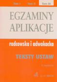 Egzaminy aplikacje radcowska i adwokacka Tom 3