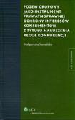 Sieradzka Małgorzata - Pozew grupowy jako instrument prywatnoprawnej ochrony interesów konsumentów z tytułu naruszenia reguł konkurencji