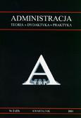red. Żukowski Ludwik - Administracja. Teoria, dydaktyka, praktyka. Kwartalnik. Nr 2/2011 (23)
