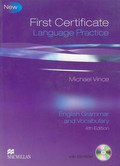Vince Michael - First certificate language practice with CD English grammar and vocabulary