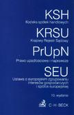 Kodeks spółek handlowych Krajowy Rejestr Sądowy Prawo upadłościowe i naprawcze Ustawa o europejskim zgrupowaniu interesów gospodarczych i spółce europejskiej