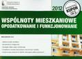 Fila Małgorzata - Wspólnoty mieszkaniowe opodatkowanie i funkcjonowanie