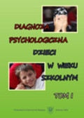 red. Dołęga Zofia - Diagnoza psychologiczna dzieci w wieku szkolnym. T. 1