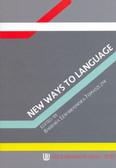 Lewandowska-Tomaszczyk Barbara - New Ways to Language