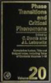 C Domb - Phase Transition & Critical Phenomena Volume 20
