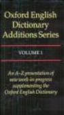 Simpson - Oxford English Dictionary Assitions Series v.1