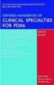 J Collier - Oxford Handbook of Clinical Specialties for PDAs CD-ROM