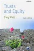 Gary Watt,G. Watt - Trusts and Equity