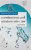 John Alder,J Alder - Constitutional And Administrative Law 6e