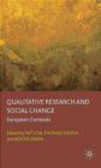 P Cox - Qualitative Research and Social Change