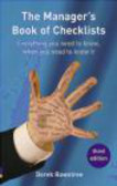 Derek Rowntree - Manager`s Book of Checklists