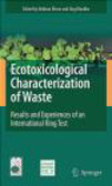 H Moser - Ecotoxicological Characterization of Waste