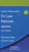Love - European Union Law Statutes 2003/04