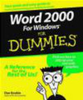 Dan Gookin,D Gookin - Word 2000 for Windows For Dummies