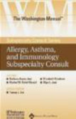 Washington Manual Allergy Asthma & Immunology Subspecial CD