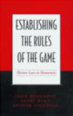 Antoine Yoshinaka,Louis Massicotte,Andre Blais - Establishing the Rules of the Game
