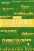 Cabi - Cab Thesaurus v 2