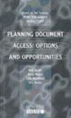 Neil Jacobs,etc.,N Jacobs - Planning Document Access Options & Opportunities